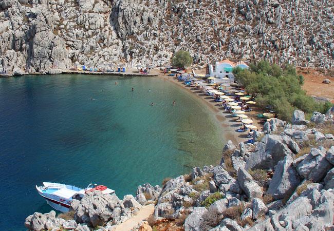Symi, spiaggia di San Nicola