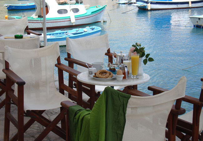 Breakfast at the Aegean sea