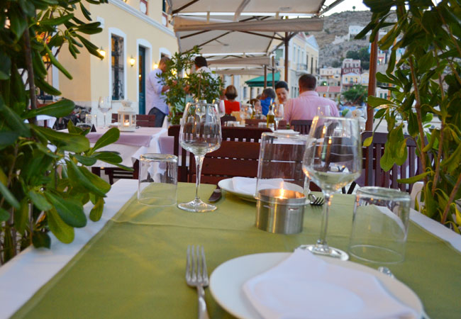 Romantic dinner in Symi