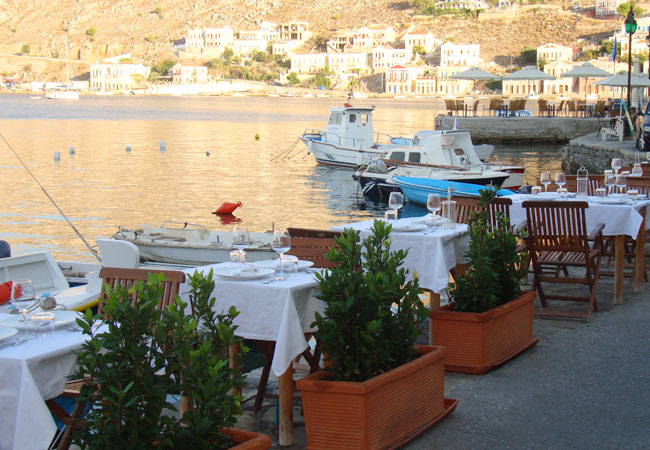 Mediterranean food in a romantic atmosphere